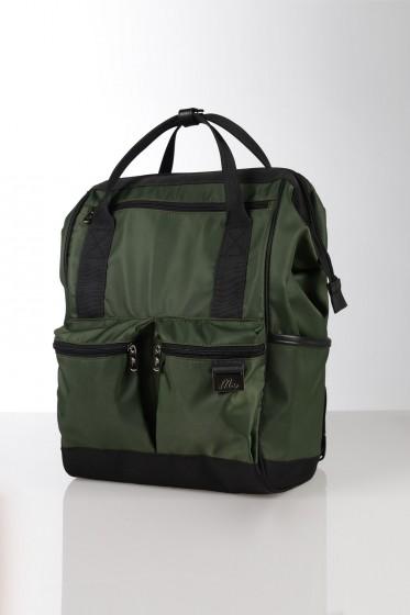 Mc Jeans กระเป๋าเป้ขนาด 16 นิ้ว - สีเขียวขี้ม้า