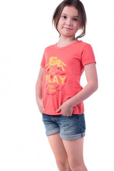Mc mini เสื้อยืดคอวี