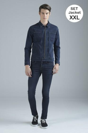 Mc Jeans เซ็ท 2 ชิ้น เสื้อคลุม Size XXL พร้อมกางเกงยีนส์ (Mc MOVE Series)