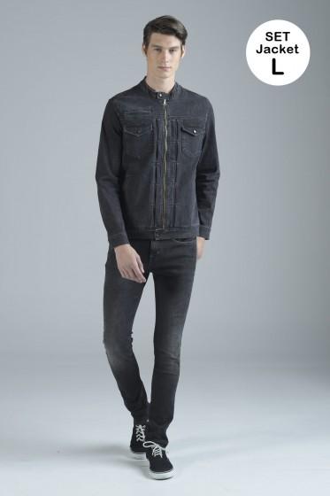 Mc Jeans เซ็ท 2 ชิ้น เสื้อคลุม Size L พร้อมกางเกงยีนส์ (Mc MOVE Series)