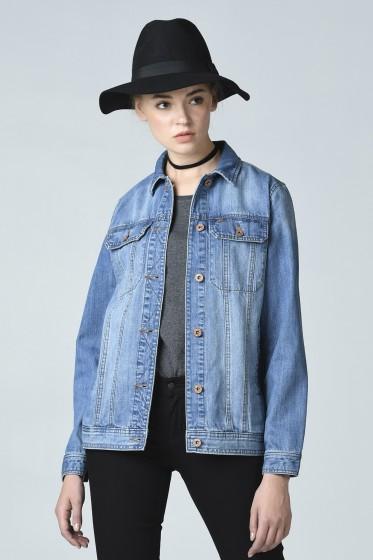 Mc Jeans เสื้อแจ็คเก็ตยีนส์