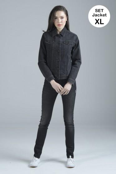 Mc Jeans เซ็ท 2 ชิ้น เสื้อคลุม Size XL พร้อมกางเกงยีนส์ (Mc MOVE Series)