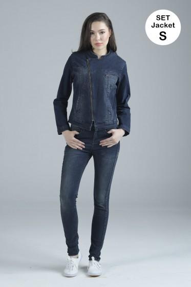 Mc Jeans เซ็ท 2 ชิ้น เสื้อคลุม Size S พร้อมกางเกงยีนส์ (Mc MOVE Series)