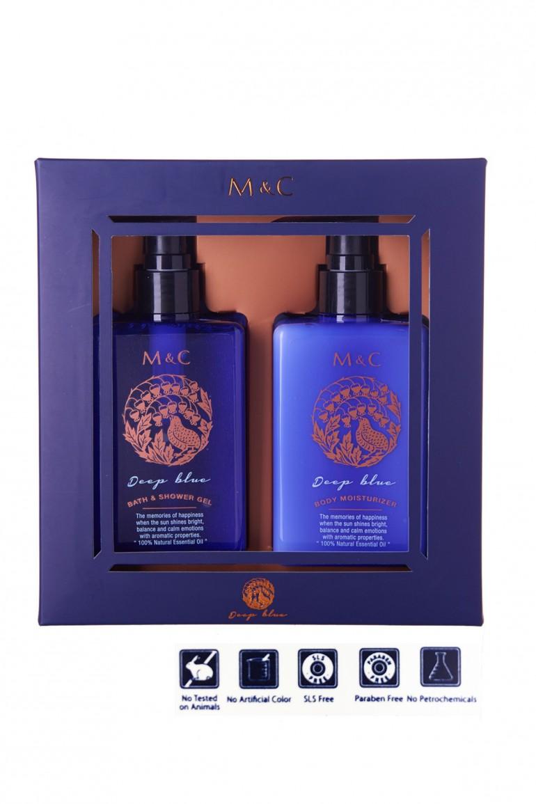 M&C Body Care Gift Set (Deep Blue)
